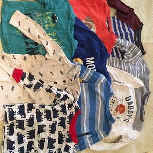 9pcs long sleeves for boys